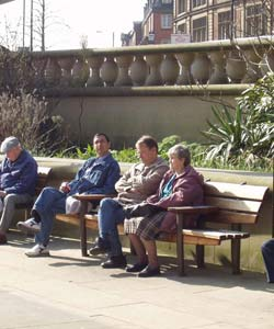 Peace Gardens Seating, Sheffield City Centre